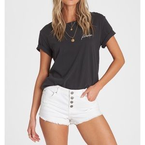 NWT Billabong Button Up White Denim Shorts